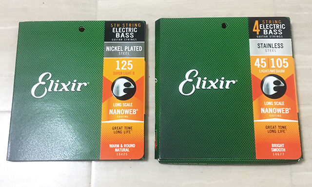Elixir Bass Strings Stainless Steel Light/Medium #14677