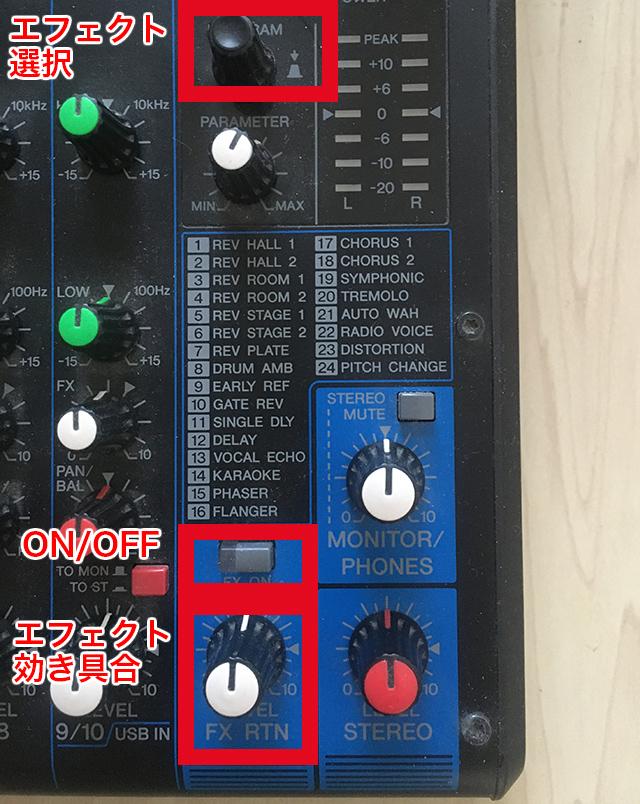 YAMAHA MG10XU エフェクト